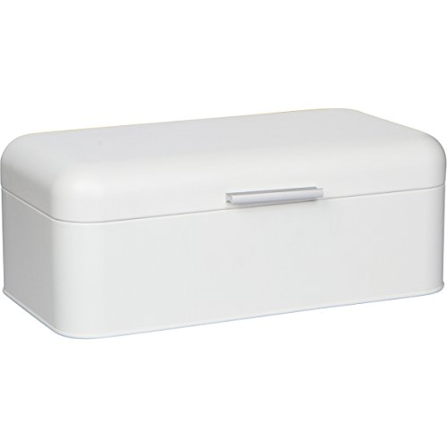 Large White Bread Box - Extra Large Storage Container for Loaves, Bagels, Chips & More: 16.5' x 8.9'...