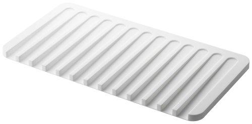 YAMAZAKI home Self Draining Tray-Drying Board, Dish Drainer Mat, One Size, White