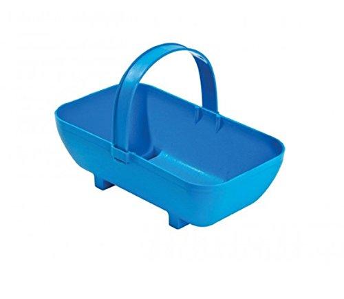 Tierra Garden GP43BLU Small Trug Recycled Plastic Planter, Blue