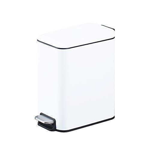 Smartbin 5L 1.3 Gal Stainless Steel Kitchen Trash Can Pedal Dust Bin Waste Basket Garbage Bin with...