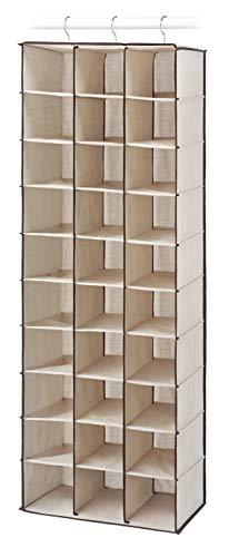 Whitmor 30 Section Hanging Shoe Shelves, Tan