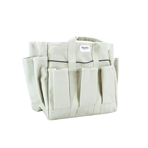 MARTHA STEWART MTS-CNVBG, 6 11-Inch Heavy-Duty Canvas Garden Bag with Interior and Exterior Pockets,...
