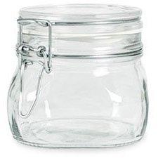 Bormioli Rocco Case of 6 Fido Latch Lid 500ml (16 Oz) Square Canning Cosmetic Storage Hermetic...