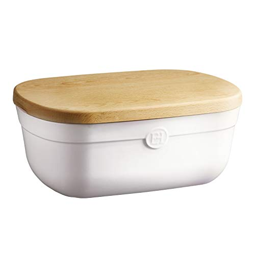 Emile Henry, Flour White bread storage box, 14 x 9.5 x 6 inches