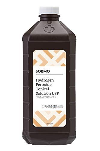 Amazon Brand - Solimo Hydrogen Peroxide Topical Solution USP, 32 Fl Oz