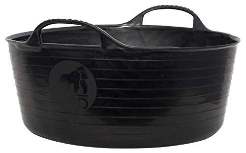 Tubtrugs SP15GBK Flexible Black Gorilla Small Shallow 15 Liter/4 Gallon Capacity