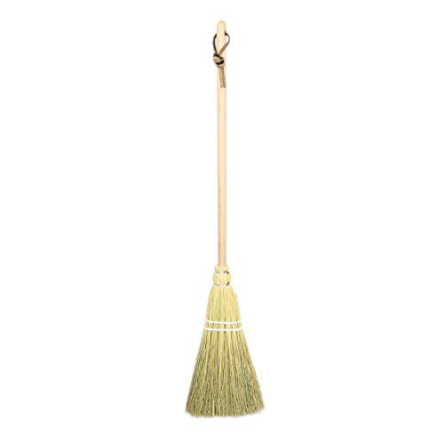 Camden Rose Childs Broom, Natural Broomcorn, 36', Maple Handle