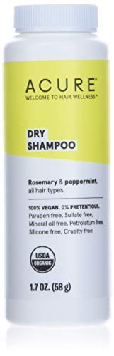 ACURE Dry Shampoo - All Hair Types | 100% Vegan | Certified Organic | Rosemary & Peppermint -...