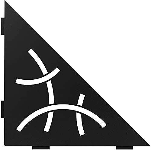 Schluter Systems Triangular Corner Shelf-E - Curve Design - Matte Black - (SES1D6MGS) Kerdi-Line...