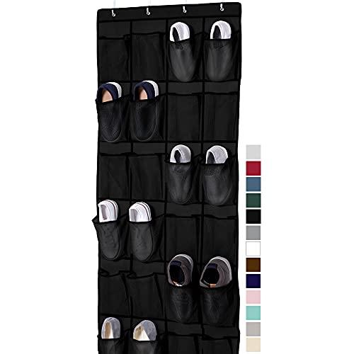 Gorilla Grip Large 24 Pocket Shoe Organizer, Breathable Mesh, Holds Up to 40 Pounds, Sturdy Hooks,...