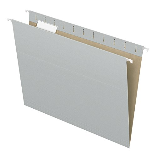 Pendaflex Recycled Hanging Folders, Letter Size, Gray, 1/5 Cut, 25/BX (81604)