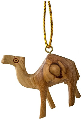 EARTHWOOD FINE WOOD PRODUCTS CM-09 Olive Wood Camel Ornament, Brown
