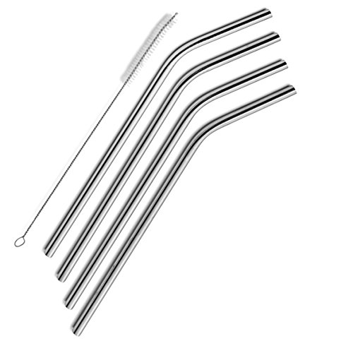 SipWell Extra Long Stainless Steel Drinking Straws Set of 4, Straws for 30 oz Tumbler and 20 0z...