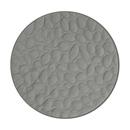 Nook Sleep Lilypad Play Mat (Misty) - Organic Play mat for Baby - Machine-Washable - 40' Round