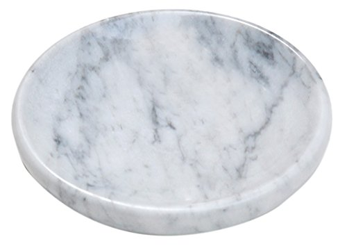 CraftsOfEgypt White Marble Soap Dish - Polished and Shiny Marble Dish Holder – Beautifully Crafted...