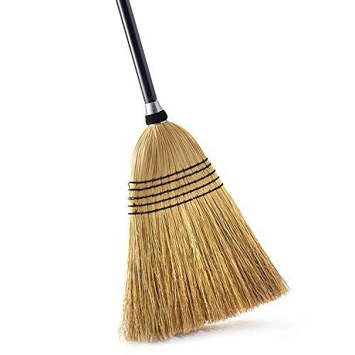O-Cedar Heavy Duty Corn Broom | Commercial-Grade Indoor and Outdoor Broom to Sweep & Clean Hard...