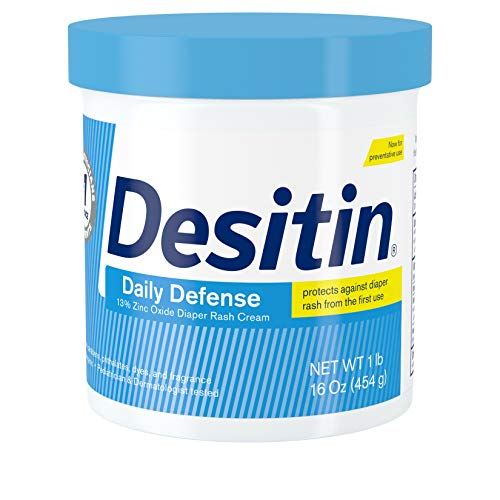 Desitin Daily Defense Baby Diaper Rash Cream with 13% Zinc Oxide, Barrier Cream to Treat, Relieve &...