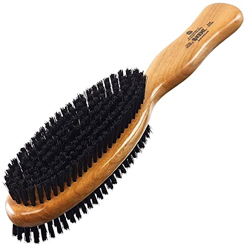 Kent CC20 Double-Sided Clothes Brush Boar Bristles Lint Remover. Firm for Dust and Dirt, Soft for...