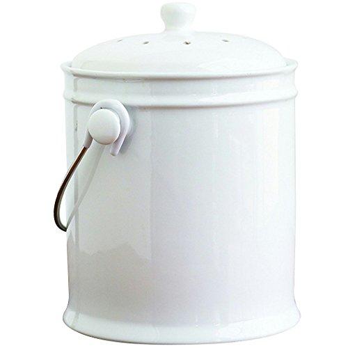 Natural Home 1-Gallon Ceramic Compost Bin with Filter