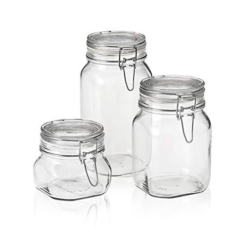 Bormioli Rocco Fido Canning Jar, Set of 3, 3 piece set, Clear