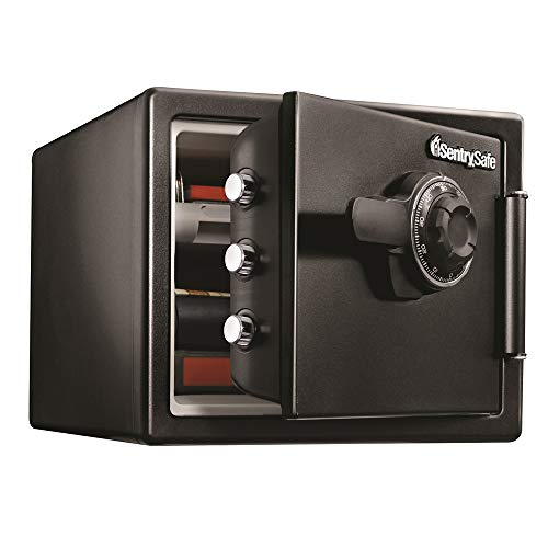 SentrySafe SFW082CTB Fireproof Safe and Waterproof Safe with Dial Combination 0.82 Cubic Feet Black