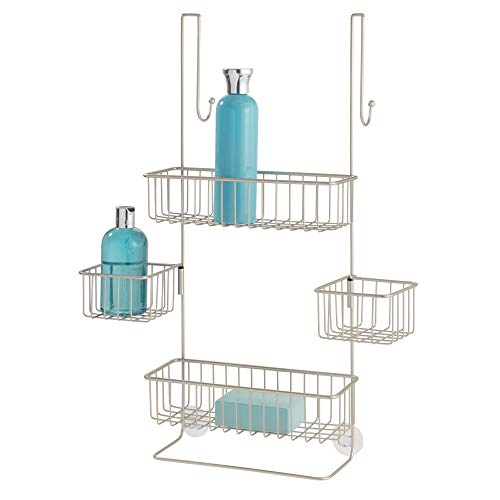 iDesign Metalo Over-the-Door Hanging Shower Organizer - 22.7' x 10.5' x 8.2', Satin