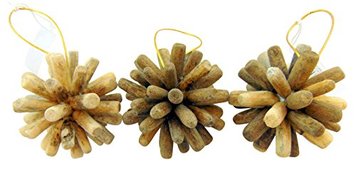 Beach Wedding Gifts Real Driftwood Ornament Set of 3 Home or Christmas Decoration