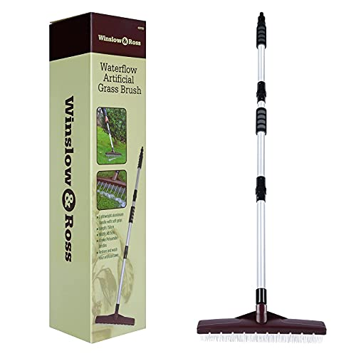Turf Rake with WaterFlow Pole for Remove Leaves, Watering, Pull Up Grass in One Step - Poles Can be...