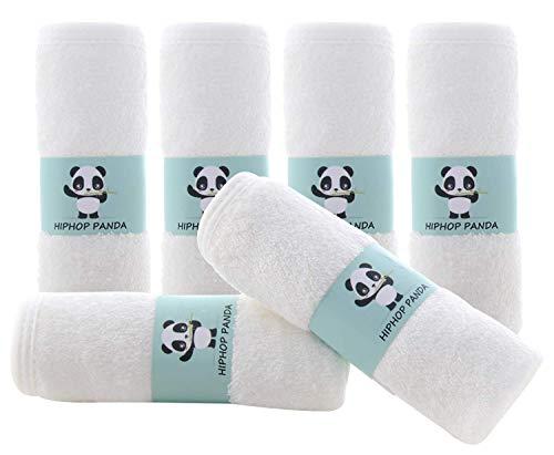 Bamboo Baby Washcloths - 2 Layer Soft Absorbent Bamboo Towel - Newborn Bath Face Towel - Natural...