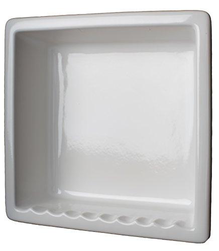 1c Sanitary 1 Compartment Tile Recessed Ceramic Shower Niche Shelf Gloss White