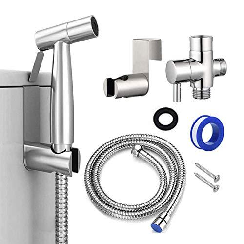 Handheld Bidet Sprayer for Toilet Attachment-Hand Held Bidet Shower Set in Bathroom-Stainless Steel...