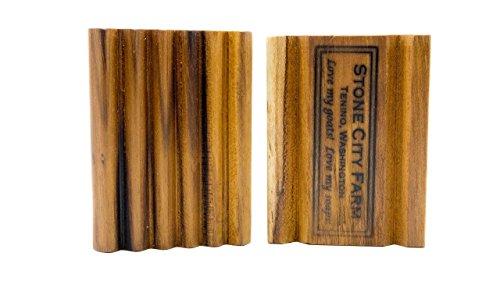 Stone City Farm Natural Soap Dish   One Premium Teak Soap Dish Straight   Handcrafted of Teak Wood