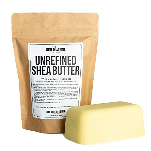 Unrefined African Shea Butter - Ivory, 100% Pure & Raw - Moisturizing and Rich Body Butter for Dry...
