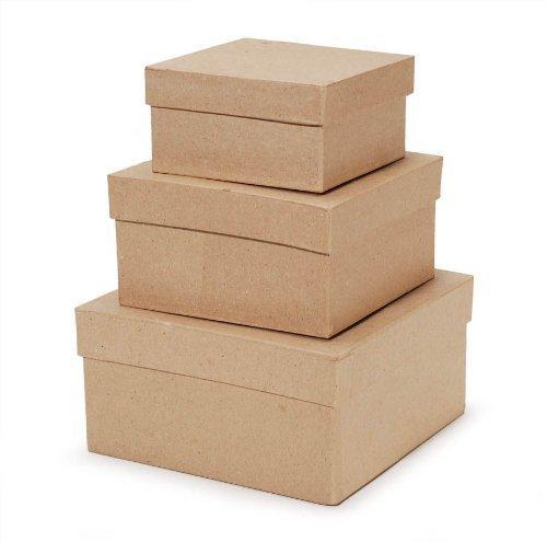 Value Pack Mache Box 4/5/6 Inch Squares