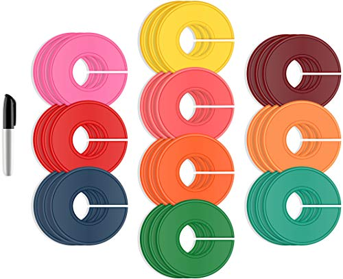 ERA Accents Closet Dividers for Clothing Rack – 30 Pieces in 10 Colors, Clothing Rack Size...