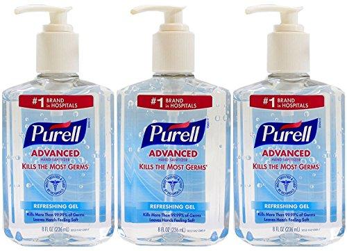 Purell Advanced Hand Sanitizer 8 oz Pump Bottle - Pack of 3