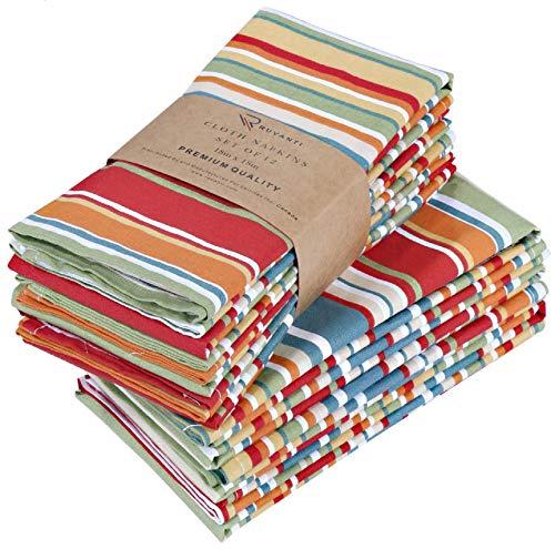 RUVANTI Cloth Napkins 12 Pack 20X20 Inch Dinner Table Napkins,Soft & Comfortable 100% Cotton...