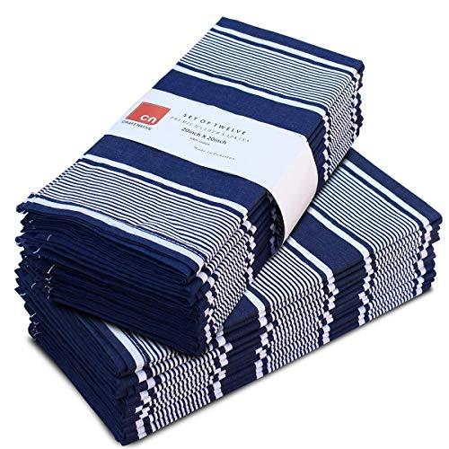 Cloth Napkins Set of 12 Cotton - 20 X 20 Inch Reusable Napkins - Oversized Cotton Napkins Made of...