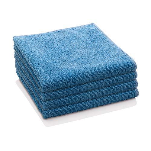 E-Cloth General Purpose Microfiber Cleaning Cloth, 300 Wash Guarantee, Alaskan Blue, 4 Pack