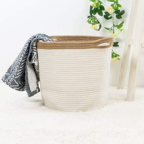 Goodpick 15' x 12.6' x 11.8' Large Cotton Rope Basket - Woven Storage Basket - Baby Bins for...