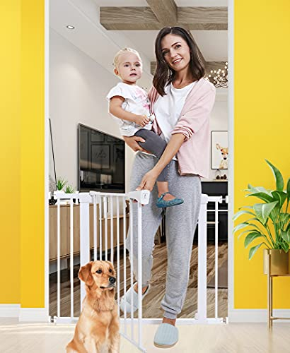 Baby Gates for Stairs and Doorways Dog Gates for The House, 30-40.5 inches - Indoor Safety Gates for...