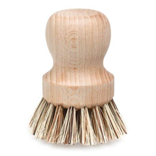 Redecker Natural Fiber Bristle Pot Brush, Comfortable Beechwood Handle, Durable Heat-Resistant...