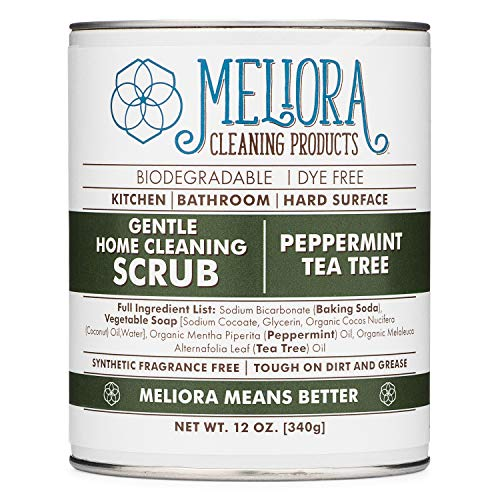 Meliora Cleaning Products Gentle Home Cleaning Scrub - Scouring Cleanser for Kitchen, Tube, and...