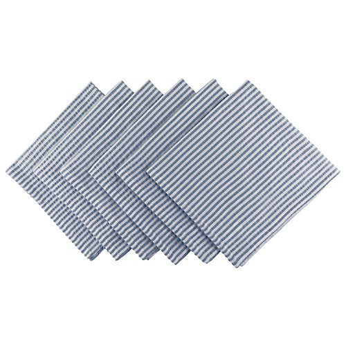 DII Cotton Seersucker Striped Napkin for Brunch, Weddings, Showers, Parties and Everyday Use, 20 x...