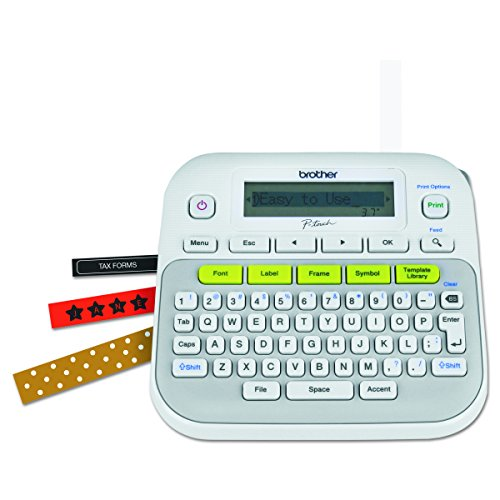 Brother P-touch, PTD210, Easy-to-Use Label Maker, One-Touch Keys, Multiple Font Styles, 27...