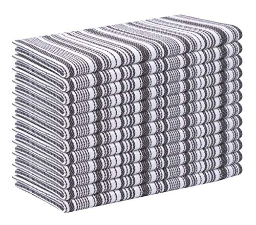 Cloth Napkin Stripe Fabric-18x18 Charcoal, Wedding Napkins, Cocktails Napkins, Fabric Napkins,...