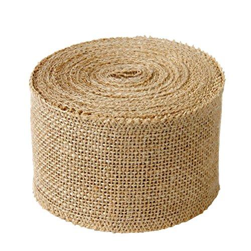 LaRibbons 3' Wide Burlap Fabric Craft Ribbon 10 Yards, 01 Tan