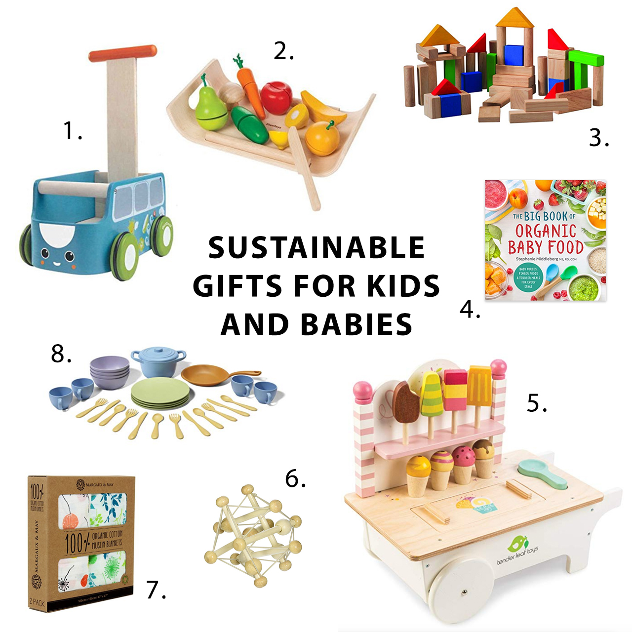 2018 Sustainable Gift Guide for Kids and Babies