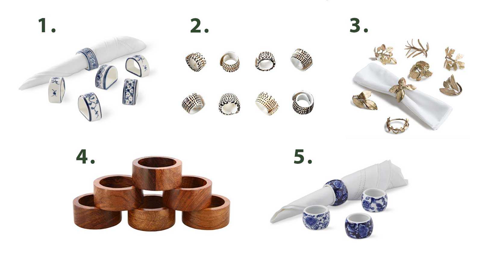 Tools for a paper-free kitchen - Napkin Rings