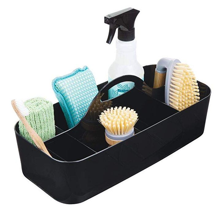 Narrow cleaning caddy